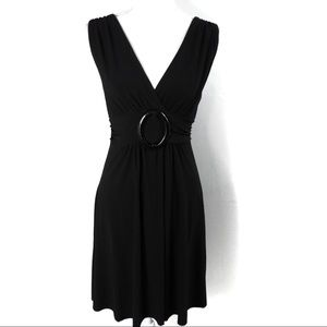 T344 Star Vixen V Neck Dress Waist Detail L